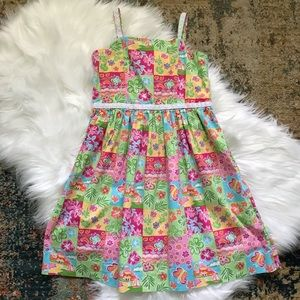 3/$30Hartstrings Floral Print Dress w Eyelet Lace